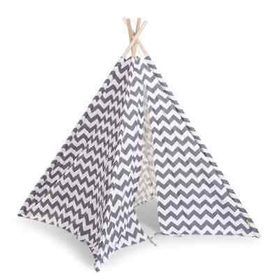 CHILDWOOD Tipi Tent Canvas Kids Children w/ Storage Bag Grey