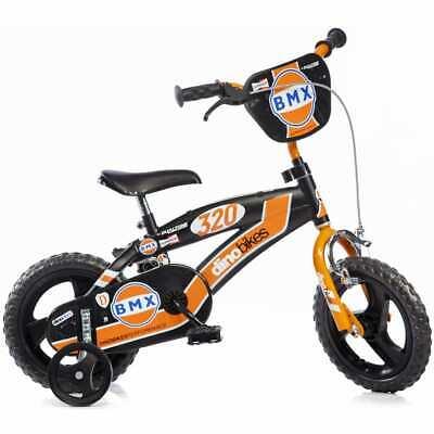 """Dino Bikes Kids' Bicycle BMX Orange 12"""" With Stabliliser"""
