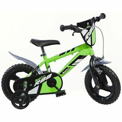 "Dino Bikes Kids' Bicycle MTB R88 Green 12"" Stabilisers"