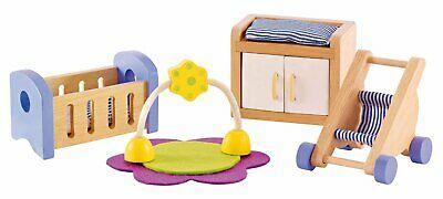 E HAPE Baby's Room Wooden Doll [Happy Family] Toddler