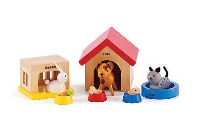 E HAPE Wooden Dolls Family Pets [Happy Family] Toddler