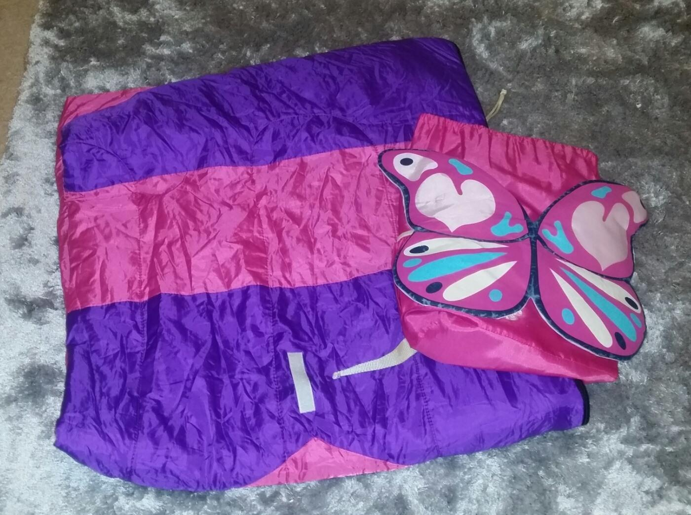 Girl's Pink Camping Slumber Sleeping Bag w/ Removable