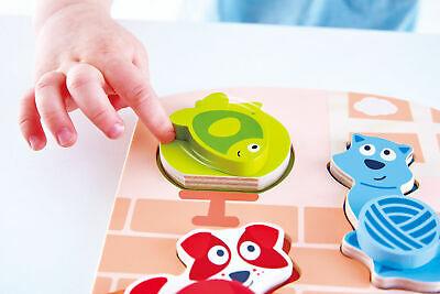 HAPE E Dynamic Pet Puzzle 3pc Wooden Jigsaw Infant