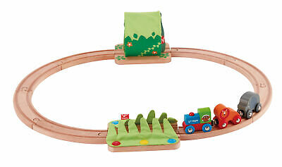 HAPE E Jungle Train Journey Wooden Railway Set Toddler