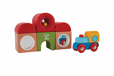 HAPE E Station Building Block Set Wooden Brick Train