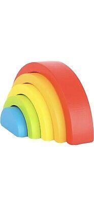 Legler - Wooden Building Blocks Rainbow 12mths
