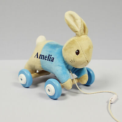 Official Peter Rabbit Pull Along Toy Personalised With A