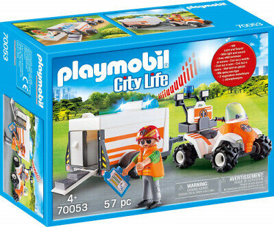 Playmobil  City Life Rescue Quad with Trailer. Best