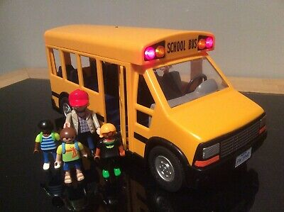 Playmobil City Life  School Bus with Flashing Lights