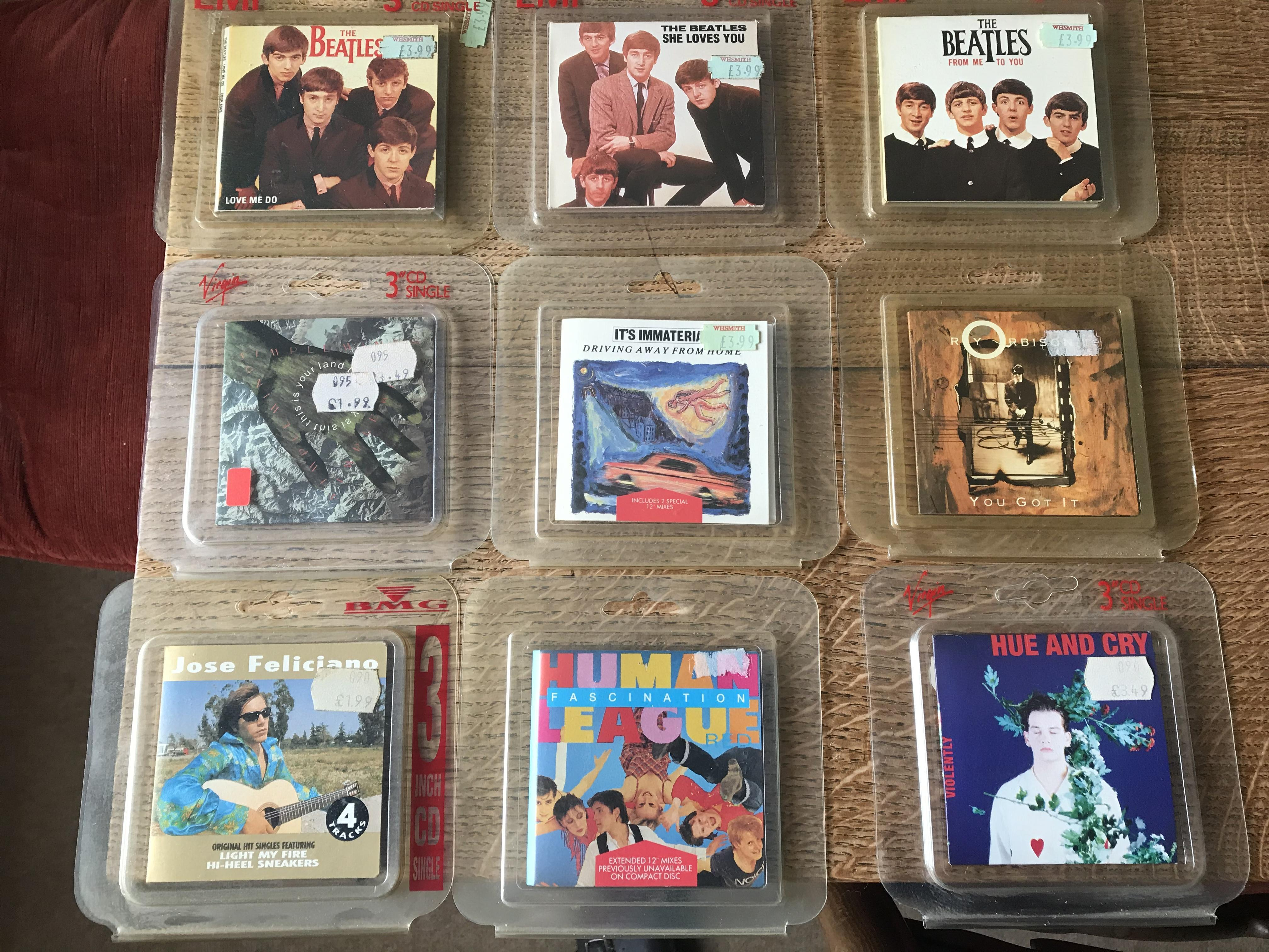 """Rare 3"""" cd's Michael Jackson/Beatles/ and many others"""