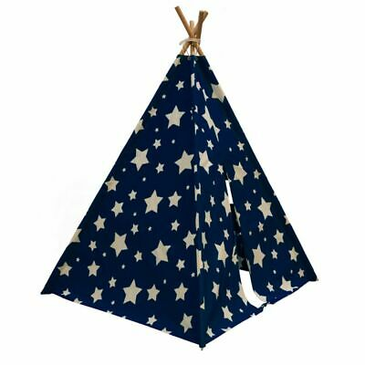 Sunny Teepee Tent Cosmo Glow in the Dark Blue and White Kids