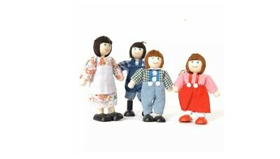 Tidlo Wooden Farm Family Doll Figures Play Set Accessories