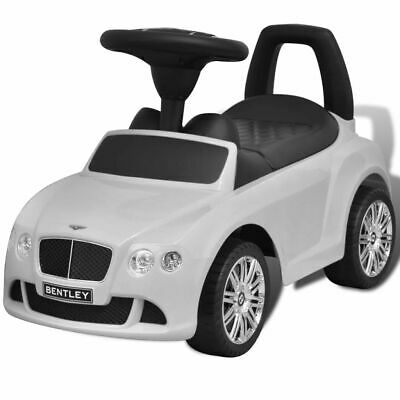 vidaXL Bentley Foot-Powered Kids Car White Kids Children Toy