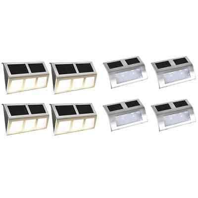 vidaXL Solar Lamp Set 8 Piece LED Lights Outdoor Garden Wall