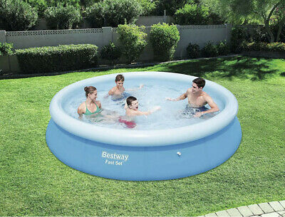 12ft X 30inch Bestway Inflatable Fast Set Pool Garden Above