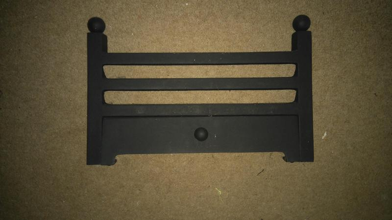 16 inch atlanta fret fire front for fireplace cast iron new
