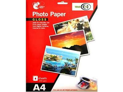 Chiltern Wove A4 Gloss Photo Paper 8 Sheets 235 gsm For All