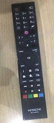 Genuine RC-A TV Remote For Hitachi 32HB4CHB4C01K