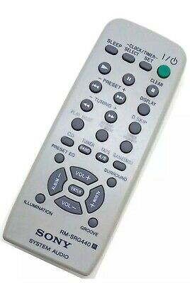 Genuine Sony RM-SRG440 Audio System Remote For MHC-RG440S