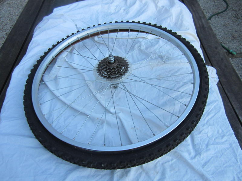 Spare rear Wheel and Tyre for bicycle