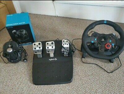 Logitech g29 sim Wheel, pedal and Gearstick Bundle