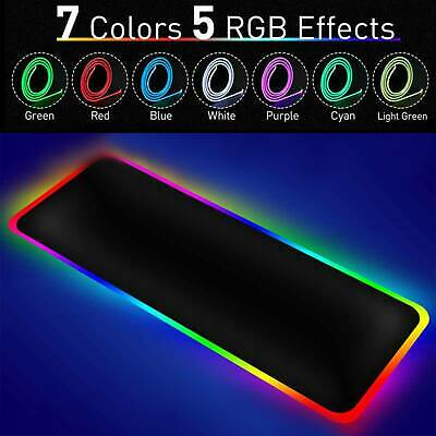mm Large Rgb Colorful Led Lighting Gaming Mouse Pad