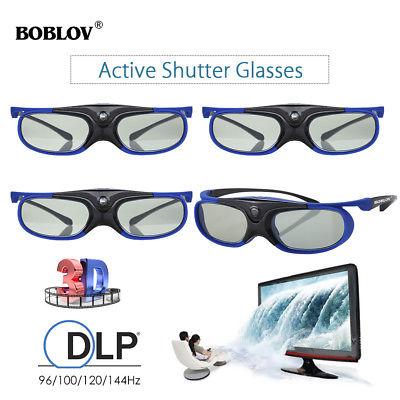 4 Packs Active Shutter 3D Glasses DLP-Link Hz