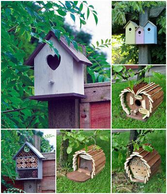 Outdoor Wooden Bird House Squirrel Feeder Insect & Bee Hotel