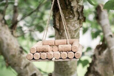 Wine Cork Hanging Bird Feeder Unique Outdoor Garden Feeding