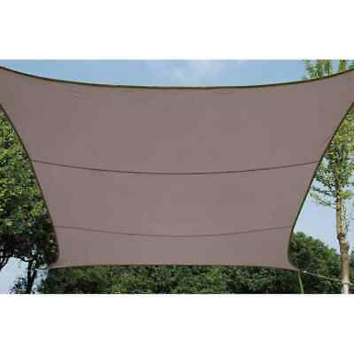Perel Shade Sail Square 3.6m Taupe Outdoor Garden Canopy