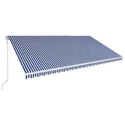 vidaXL Automatic Retractable Awning 600x300cm Blue and White