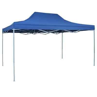 vidaXL Professional Folding Party Tent 3x4m Blue Steel