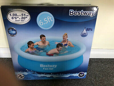 Bestway Fast Set Blue Inflatable Swimming Pool Garden Water
