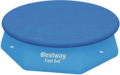 Bestway Fast Set Swimming Pool Cover, Blue, 244 cm