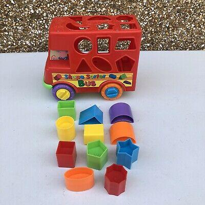 Funtime Bus Shape Sorter Sorting Fun Push Along Activity Toy