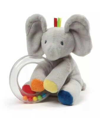 Gund Baby Flappy the Elephant Rattle Soft Plush Toy