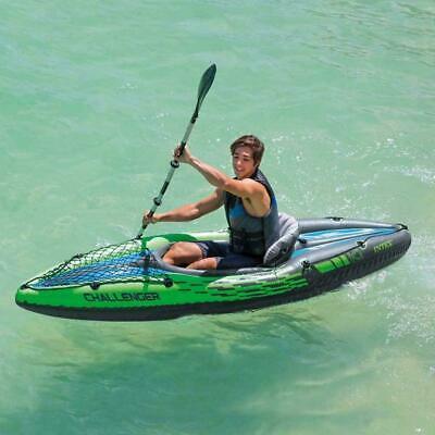 Intex K1 Inflatable Kayak Canoe Oars Challenger 1 Man Person