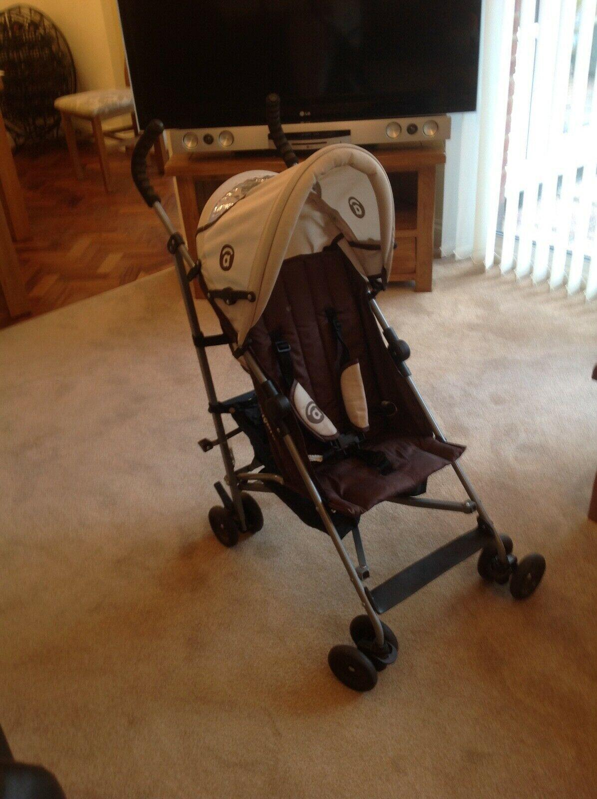 Pushchair Stroller Buggy, Brown and Beige, Great condition