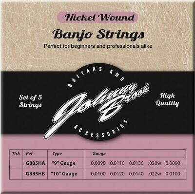 Set of 5 High Quality Nickel Wound Banjo Strings (9 Gauge)