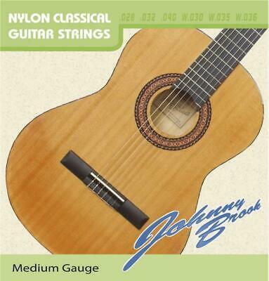 Set of 6 Johnny Brook Medium Gauge Classical Guitar Strings