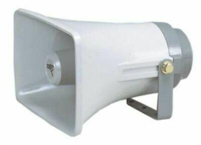 White 8 Ohm 20 W ABS Plastic Square Horn Speaker