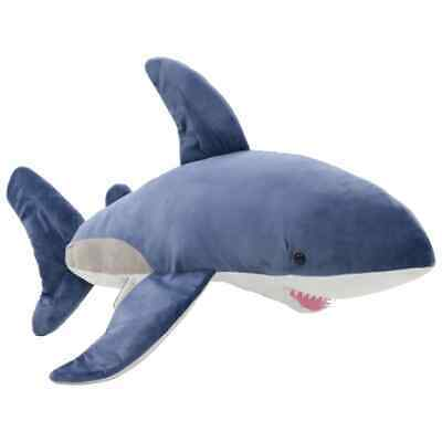 vidaXL Shark Cuddly Toy Plush Blue and White Kids Stuffed