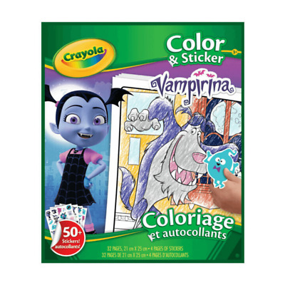 CRAYOLA VAMPIRINA COLOUR + STICKER 32 PAGE COLOURING