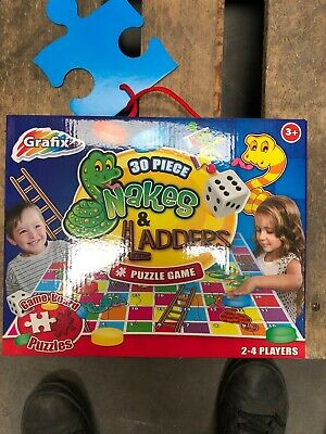 Giant Grafix Snakes And Ladders Puzzle Game 30 piece Jigsaw
