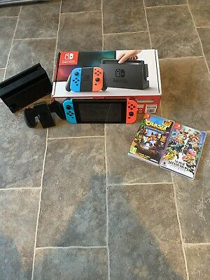 Nintendo Switch 32GB Console with Neon Red and Neon Blue