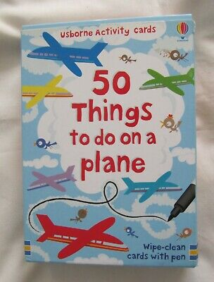 Usborne Activity Cards. 50 things to do on a Plane. Complete