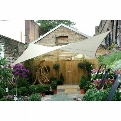 Perel Shade Sail Square 5m Cream Outdoor Garden Patio Canopy