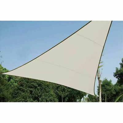 Perel Shade Sail Triangle 3.6m Cream Outdoor Garden Canopy