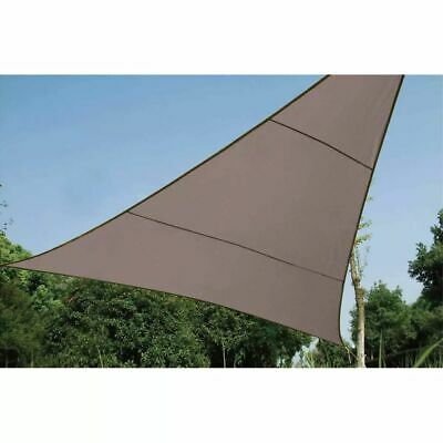 Perel Shade Sail Triangle 5m Taupe Outdoor Garden Canopy