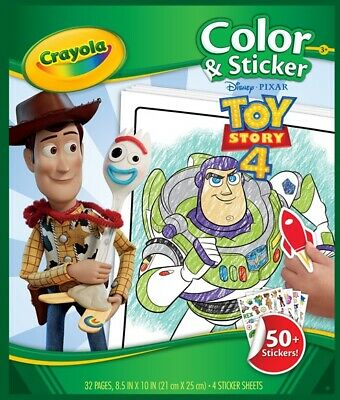 Crayola Colour and Sticker Book Toy Story 4